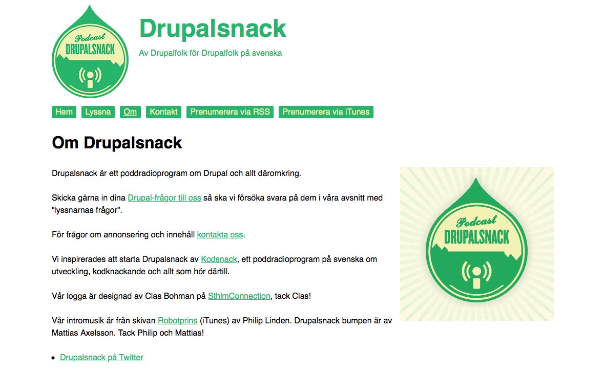 Drupalsnack screenshot
